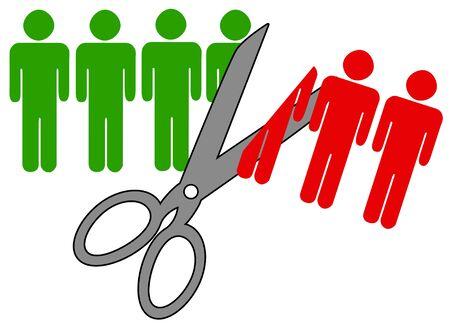Job cuts illustration 版權商用圖片