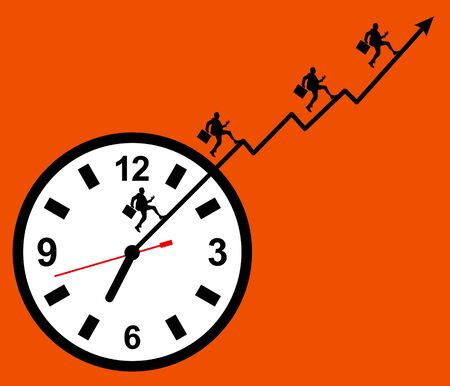 busy schedule illustration Stock Photo
