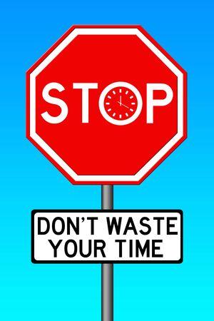 Waste time illustration