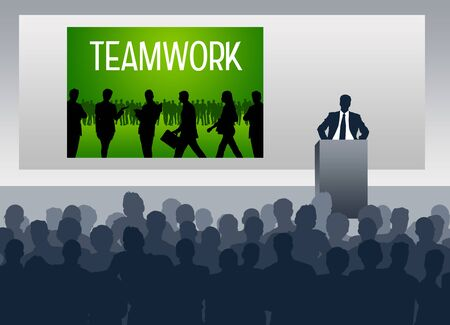 Teamwork presentation illustration