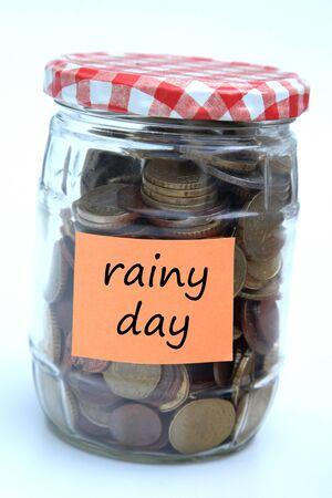 rainy day savings 版權商用圖片