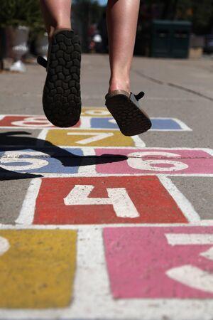 street hopscotch 版權商用圖片