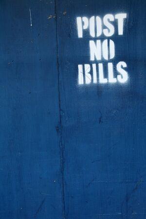 post no bills 版權商用圖片