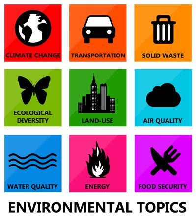 environmental topics illustration 版權商用圖片