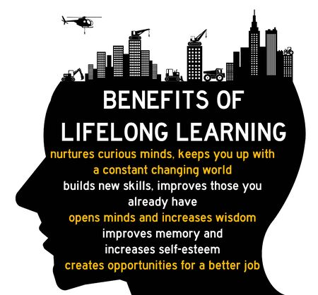 benefits of lifelong learning illustration 版權商用圖片