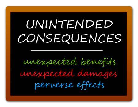 unintended consequences illustration 版權商用圖片