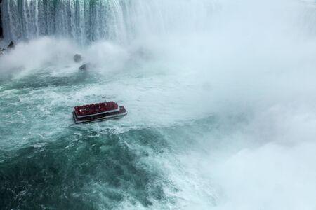 boat waterfall