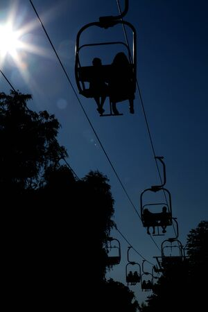 aerial lift silhouette