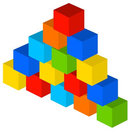 colorful building blocks illustration