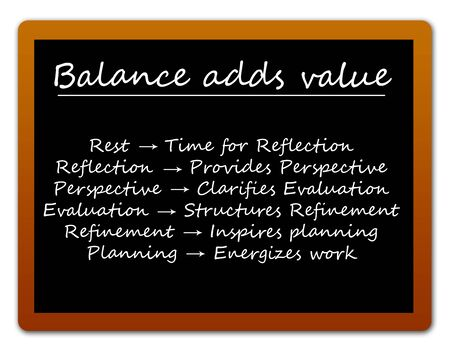 balance adds value illustration
