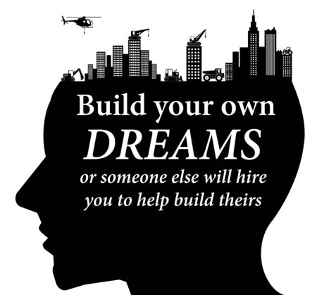 build own dreams illustration