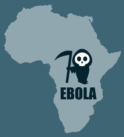 ebola virus outbreak illustration