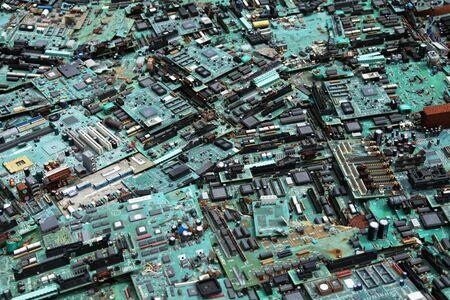 discarded computers 版權商用圖片