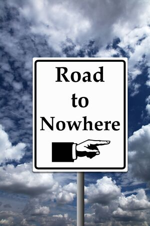 road to nowhere illustration