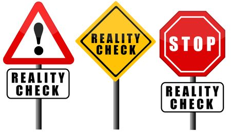 reality check sign illustration
