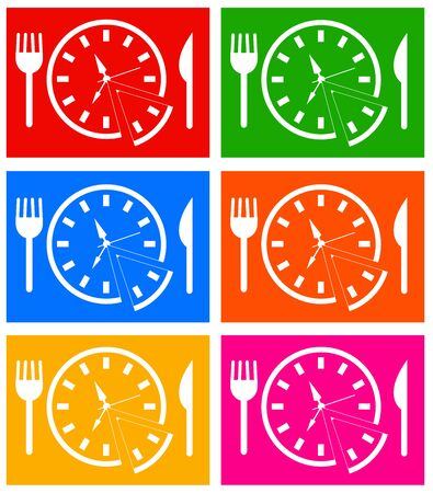 Time to eat illustration