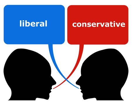 liberal conservative illustration