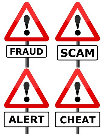 fraud scam cheat illustration Reklamní fotografie