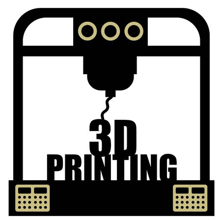 3d printing machine illustration