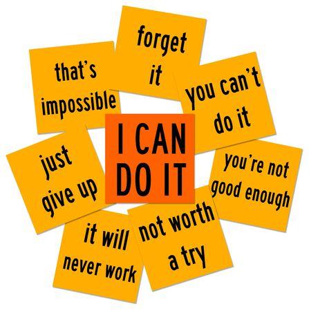 Self confidence illustration