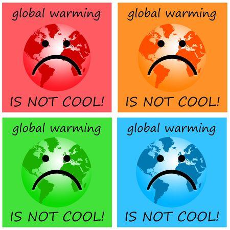 Global warming illustration 版權商用圖片