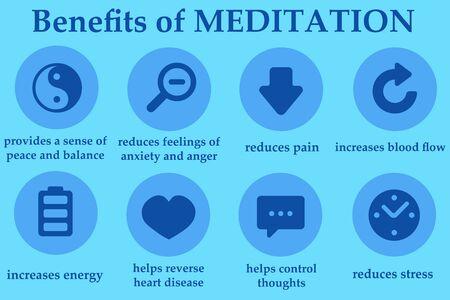 Meditation illustration Imagens - 148987702