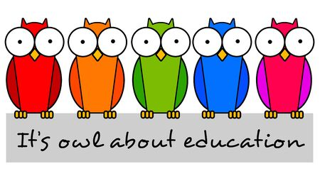Education owls illustration Imagens - 148987703