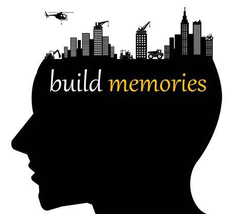build memories illustration Imagens - 148840521