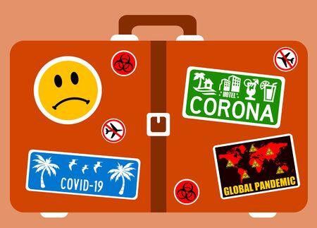 corona travel restrictions illustration 版權商用圖片