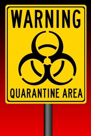 quarantine area illustration 版權商用圖片