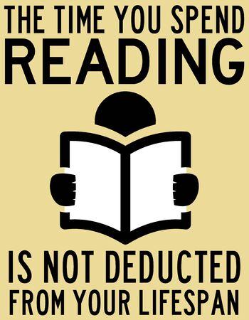 reading lifespan illustration