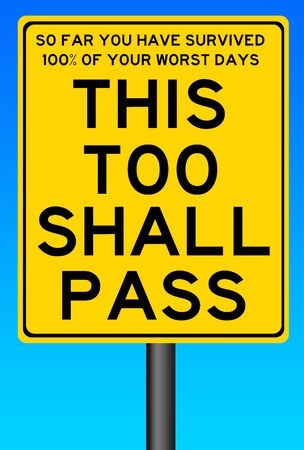 this too shall pass illustration Imagens