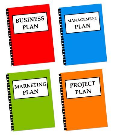 company plans illustration Imagens - 149123449