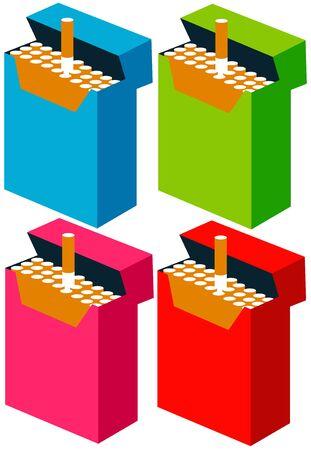 Pack of cigarettes illustration 版權商用圖片