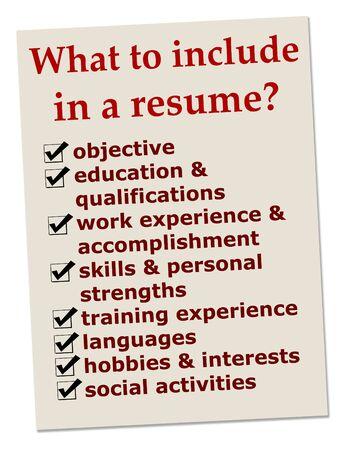 resume information illustration
