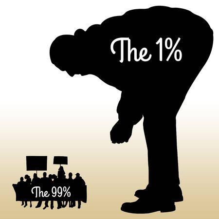 One percent population illustration