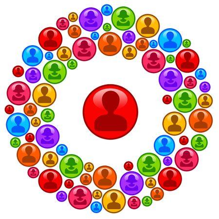 social circle illustration