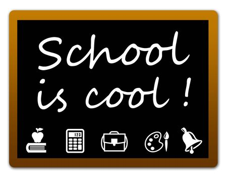 school is cool illustration 版權商用圖片