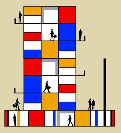 modern office building illustration 版權商用圖片