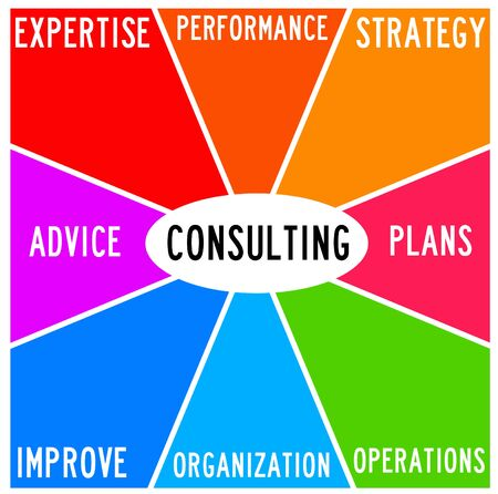consulting topics illustration Imagens