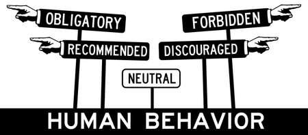 Human behavior illustration