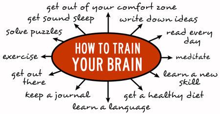 train your brain illustration Stock Photo