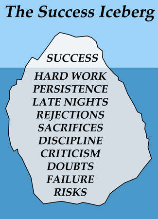 success iceberg illustration Фото со стока