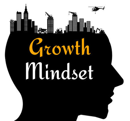 growth mindset illustration Фото со стока