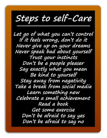 steps to self care illustration