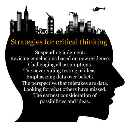 critical thinking strategies illustration