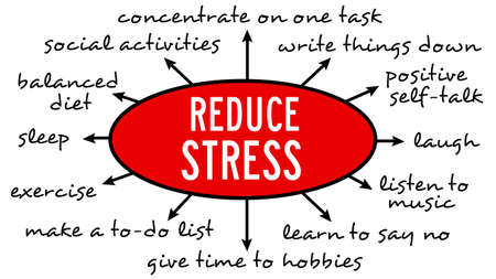 reduce stress illustration