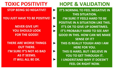 toxic positivity illustration