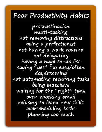 poor productivity habits illustration
