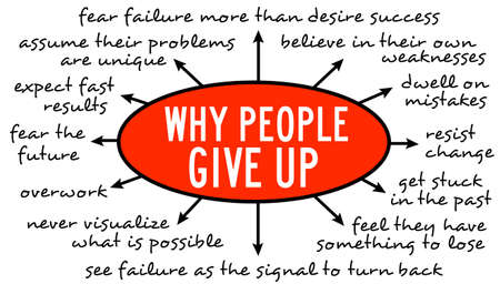 why people give up illustration Фото со стока